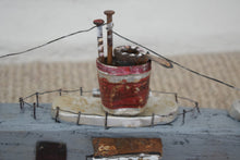 Load image into Gallery viewer, Vintage Scratch Built Handmade Naive Wooden Submarine Model