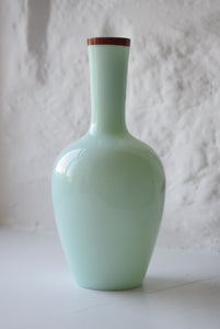 Antique Uranium Opaline glass Vase c1890