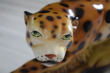 Load image into Gallery viewer, Art Deco Cheetah Ceramic Statue