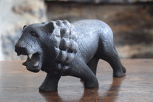 Load image into Gallery viewer, Antique Black Forest Lion Carving