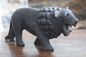 Antique Black Forest Lion Carving