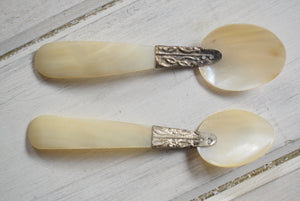 Vintage Mother Of Pearl Caviar Spoons