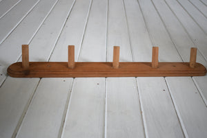 Antique Solid Pine Coat Peg Rack