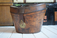 Load image into Gallery viewer, Antique Victorian Leather Top Hat Box