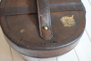 Antique Victorian Leather Top Hat Box