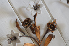 Load image into Gallery viewer, Tole Flower Coat Hooks