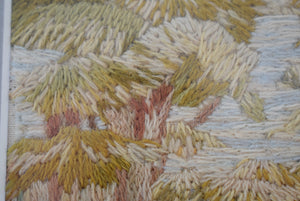embroidery of a woodland scene