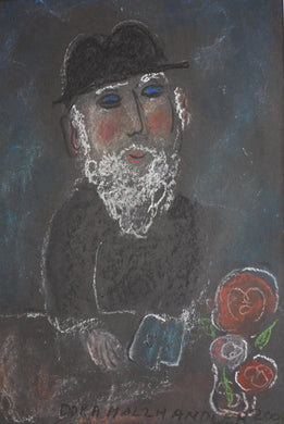 Pastel Drawing Jewish Man