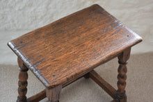 Load image into Gallery viewer, 17th century oak joint stool