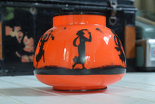 Load image into Gallery viewer,  Mid Century Orange Glass Bowl