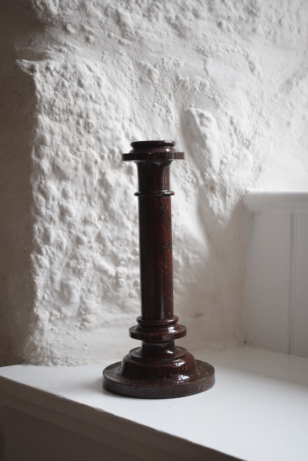 Cornish Serpentine Candlestick