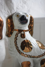 Load image into Gallery viewer, Staffordshire Copper Lustre Spaniels