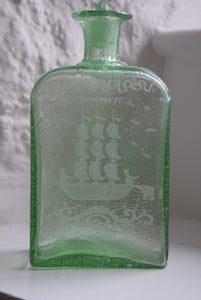 Green Blown Glass Scent Bottle
