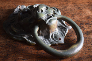 Bronze Lion Mask Door Knocker