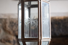 Load image into Gallery viewer, Copper and Glass Hexagon Lantern