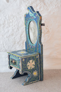 Painted Mirrored Vanity Dresser Unit