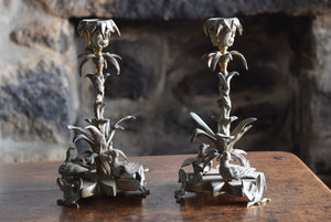 William IV Brass Candlesticks