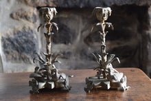 Load image into Gallery viewer, William IV Brass Candlesticks