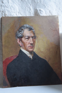 Portrait Painting of a Seated Gentleman