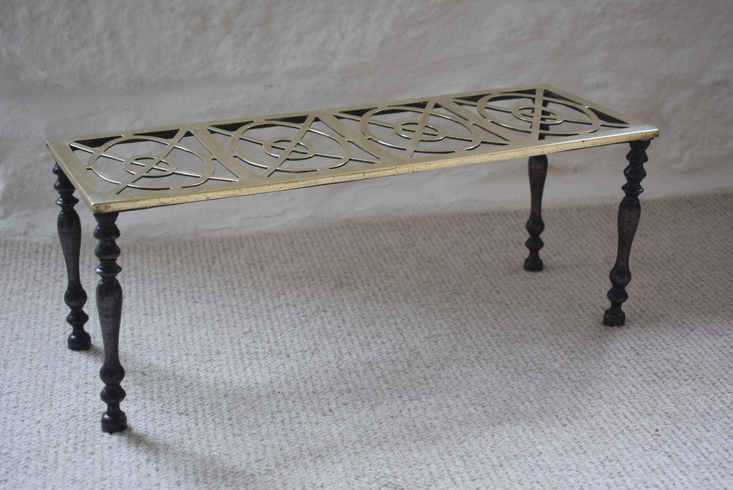 Antique Brass Footman with Cast Iron Legs