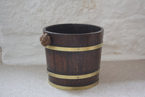 Coopered Bucket with Rope Handle