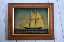 Load image into Gallery viewer, Reverse Painted Glass Schooner