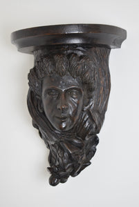 Carved Oak Wall Bracket