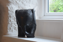 Load image into Gallery viewer, African Mask Carved Wood Elephant