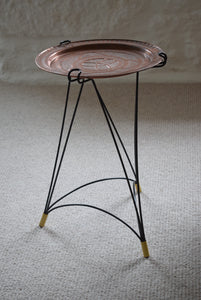 Mid Century Copper Tray Table