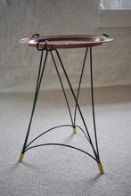 Load image into Gallery viewer, Mid Century Copper Tray Table