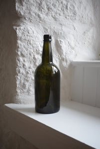 Early 19th Century Glass Wine Bottle