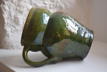 Load image into Gallery viewer, Early Farnham Pottery Green Glaze Owl Jug