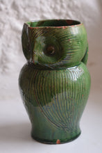 Load image into Gallery viewer, Farnham Pottery Green Glaze Harris Owl Jug