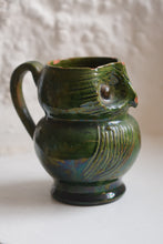 Load image into Gallery viewer, Small Farnham Pottery Green Glaze Owl Jug