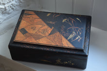 Load image into Gallery viewer, Japanese Black Lacquer Work Box