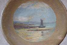 Load image into Gallery viewer, Hand Painted Wooden Stool St Michael's Mount