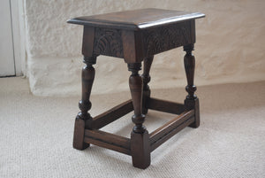 Antique 18th Century Oak Joint Stool