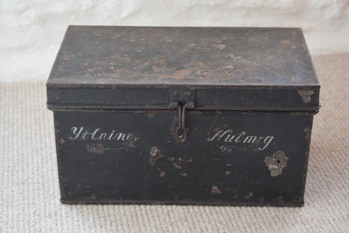 Antique Metal Deed Box
