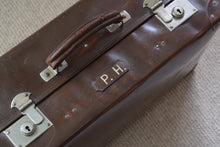 Load image into Gallery viewer, Vintage British Made Faux Leather Hardcase Suitcase