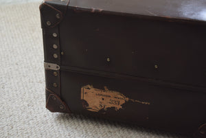 Vintage British Made Faux Leather Hardcase Suitcase