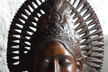 Load image into Gallery viewer, Carved Wooden Bust Woman