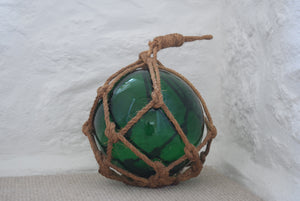 Green Vintage Japanese Glass Fishing Float
