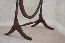 Load image into Gallery viewer, Victorian Mahogany Oval Dressing Table Mirror