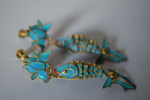 Chinese Tian-tsui Fish Earrings