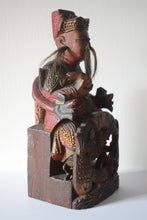 Load image into Gallery viewer,  Chinese Carved Wooden Temple Figure