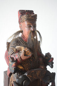 Chinese Carved Wooden Temple Figure
