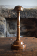 Load image into Gallery viewer, Antique Turned Wood Wig Stand,