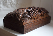 Load image into Gallery viewer, Carved Hardwood Box with Sliding Lid