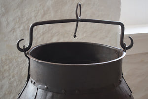 Antique Riveted Steel Cauldron