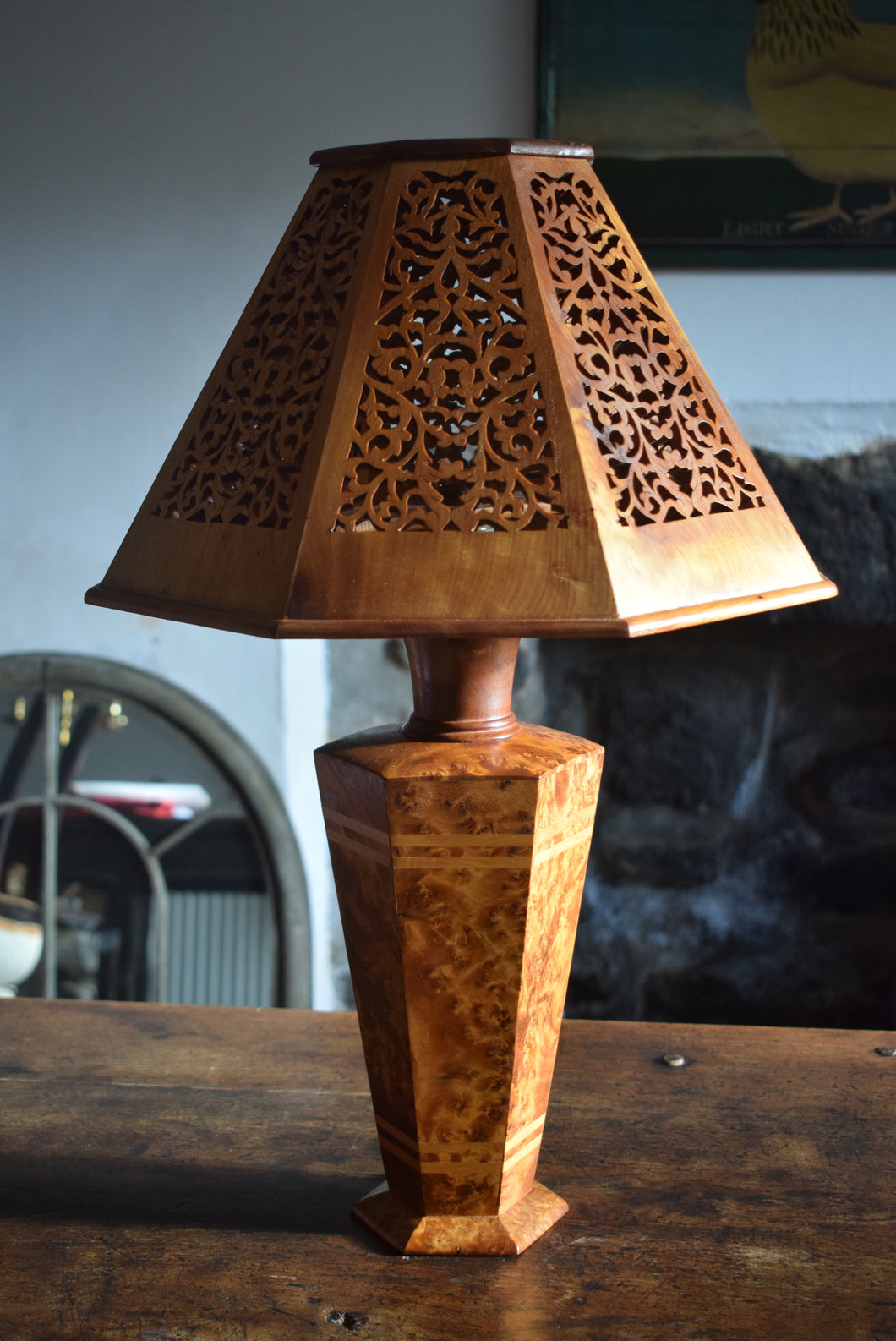Birdseye Maple Table Lamp